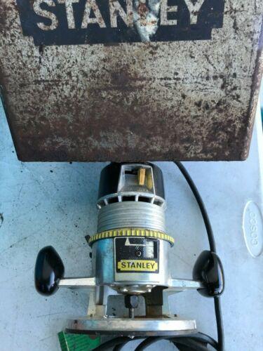 VINTAGE STANLEY ROUTER KIT H-295 - LOTS OF EXTRAS! IN METAL CASE - LOOK!
