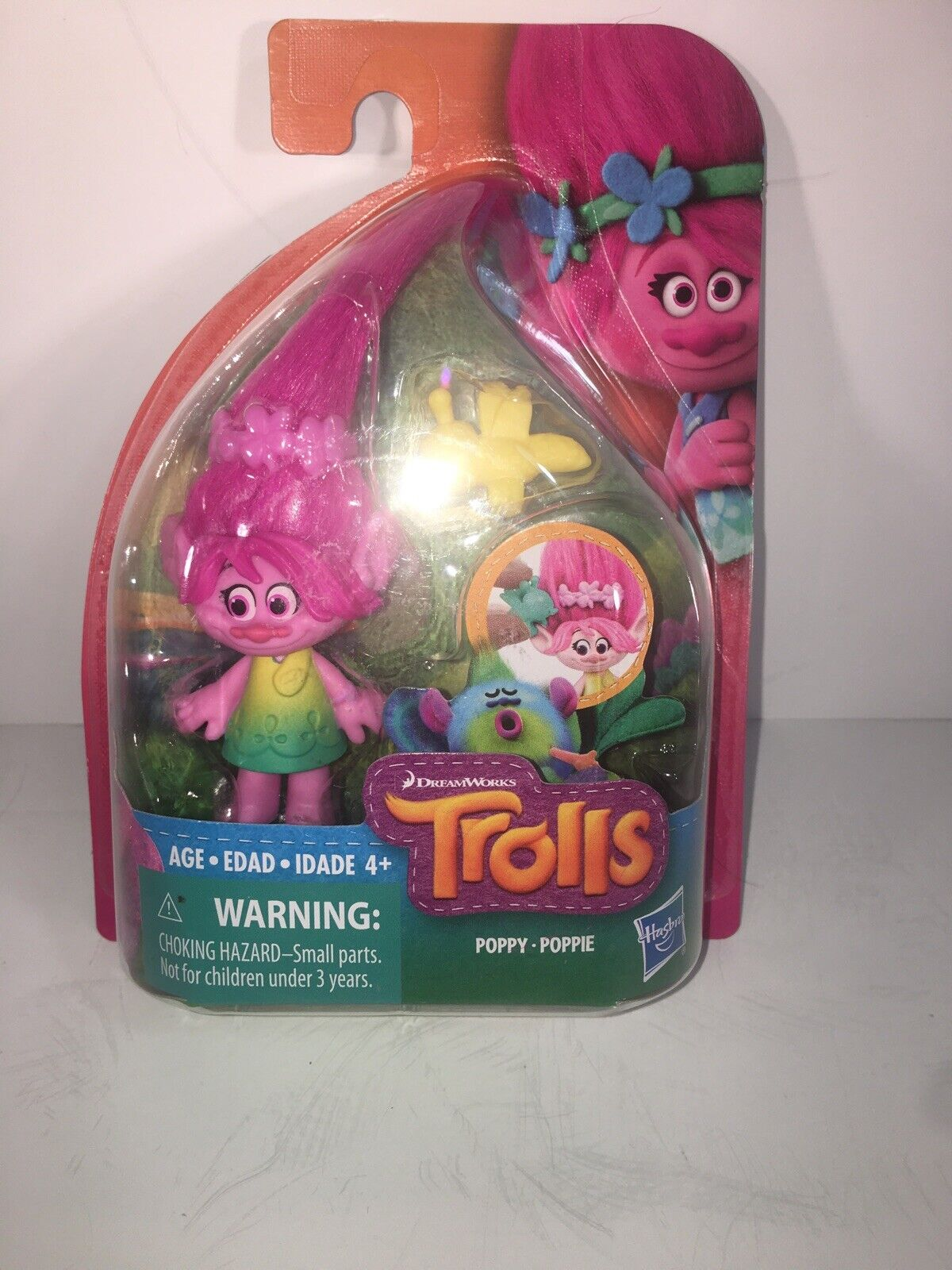 DreamWorks Trolls Poppy Poppie Collectible Figure with Yellow Critter