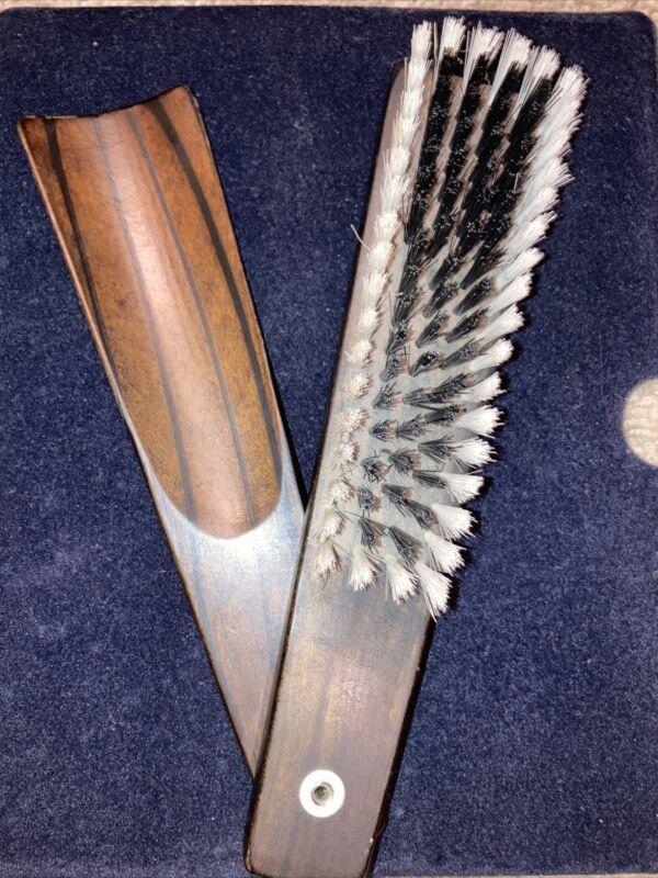 Vintage Walnut Clothes Brush/Shoe Horn-one Piece