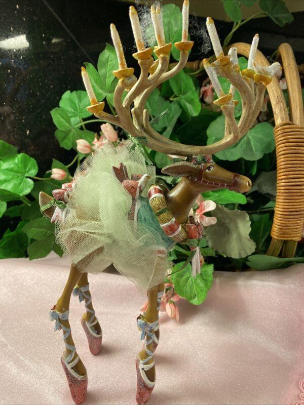 "Large Patience Brewster Dancer Dash Away 12"" Reindeer Figure Or Ornament"