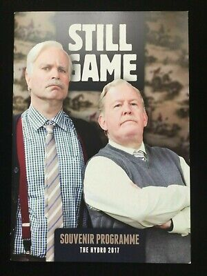 STILL GAME SERIES JACK AND VICTOR LIVE 2 THE HYDRO GLASGOW 2017 PROGRAMME