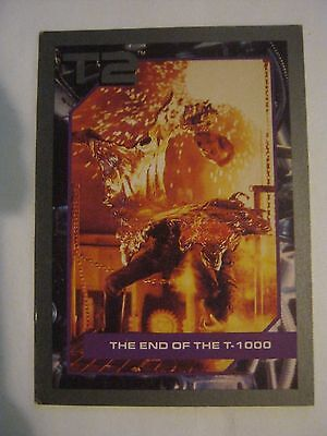 """1991 Impel #122 Terminator 2 T2 Trading Card, """"The End Of The T-1000"""" (MC-bb13)"""