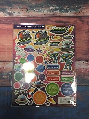 NEW Vacation Bible School (Vbs) to Mars and Beyond Craft Theme Stickers - Vacation Bible School Themes