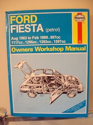 Haynes Ford Fiesta [1983 to 1989] Owners Workshop Manual - Good Clean Condition!
