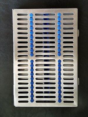 Dental Sterilization Cassette Rack Tray Box For 20 Surgical Instruments