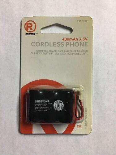 RadioShack Cordless Phone Battery 2302352 400 mAh 3.6V