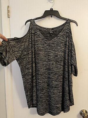 A.N.A. Women's Short Sleeve Cold Shoulder Top-Size L