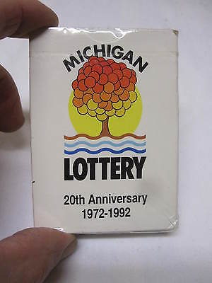 Vintage 90S Michigan Lottery Playing Cards Advertising 20 Year Anni  Sealed