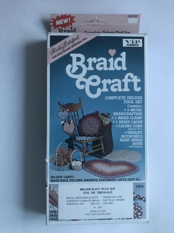 Shirley Botsford Braid Rug Craft Kit - 1987 Deluxe Tool Set #81000 NEW UNUSED