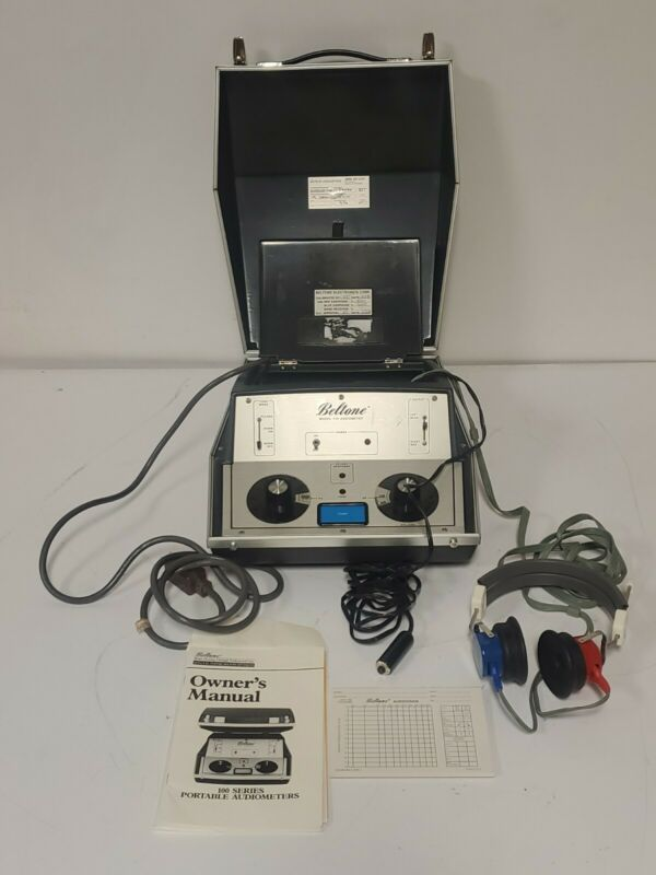 Beltone 119 Portable  Audiometer with Headphones and Owner