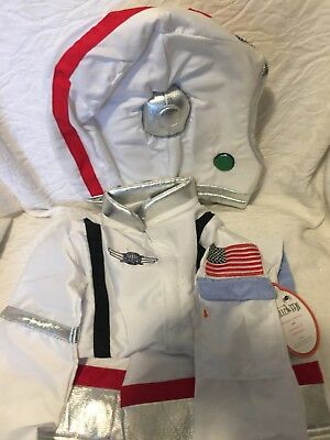 pottery barn kids Astronaut costume & helmet size 4-6 new 2 pieces halloween