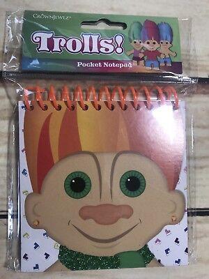 Crown Jewlz Trolls Pocket Notepad Gift Stocking Stuffer Xmas Holiday