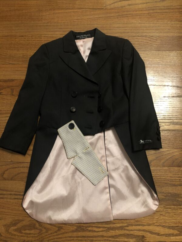 RJ Classics Sterling Collection Shadbelly 4R Youth Girls Horse Show Coat Jacket