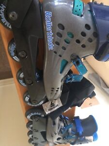 Rollerblade brand rollerblades and palm mitts