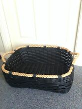 Black Cane Basket with rope handles Barden Ridge Sutherland Area Preview