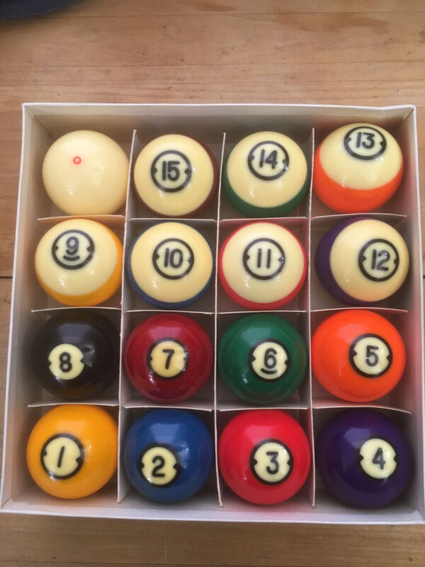 Brunswick Centennial Aramith Pool Billiard Balls set Excellent condition.