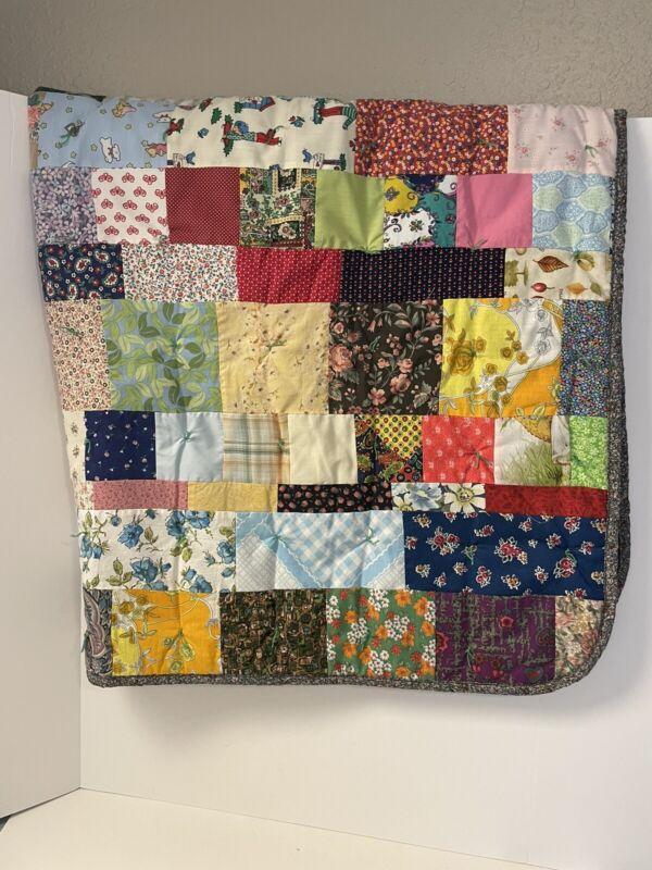 baby quilt patchwork 56x42