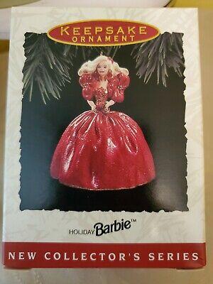 1993 NIB Hallmark Keepsake Ornament Holiday Barbie #1 in series