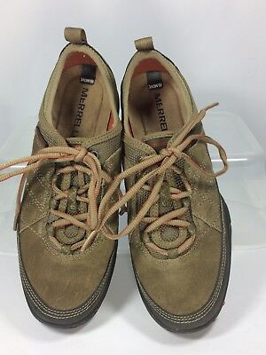 Merrell Kangaroo Womens Brown Leather Lace up Performance Walking Hiking 7.5, used for sale  Shipping to Canada
