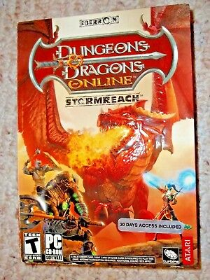 Dungeons   Dragons Online  Stormreach  Dvd Rom   Pc  2006  Sealed Box   Free S H