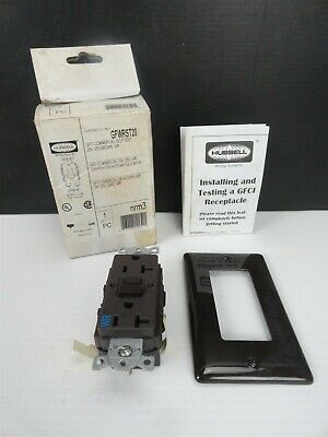 Hubbell - Gfwrst20 Receptacle - Brown 20amp 125v 2 Pole 3 Wire Ground New