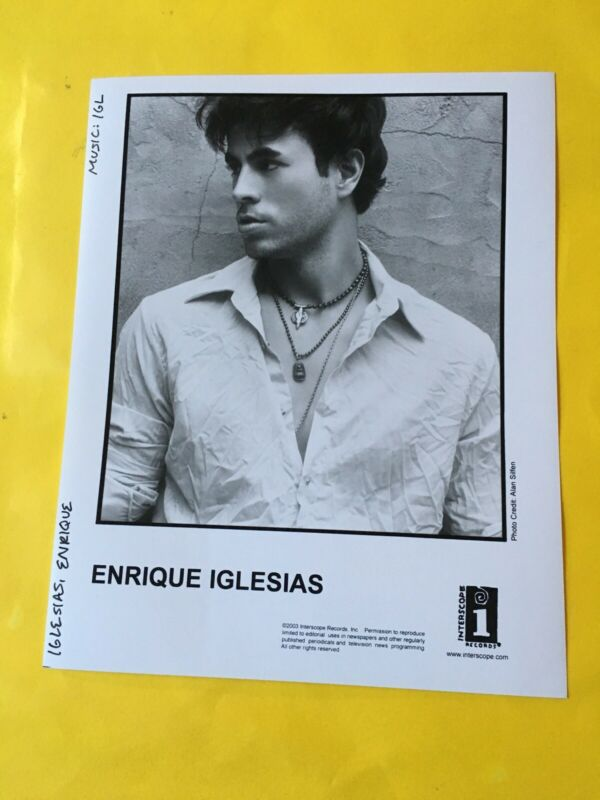 "Enrique Iglesias Press Photo 8x10"", Interscope Records. See Photos."