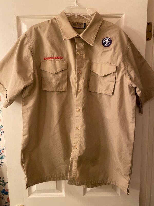 Boy Scout BSA UNIFORM SHIRT Adult Mens Large New Style Short Sleeve #14