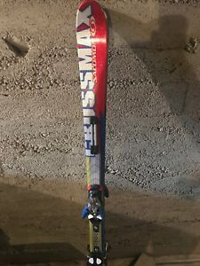 Salomon alpine skis and rossignol boots