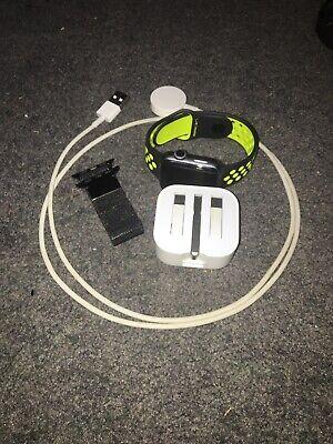 Apple Watch Nike+ 38mm Aluminum Case Black/Volt Sport Band - (MP082LL/A)