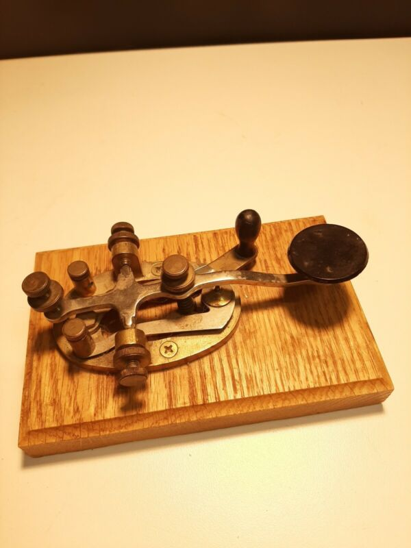 Signal Electic Brass Straight Telegraph Key for  Morse Code nice