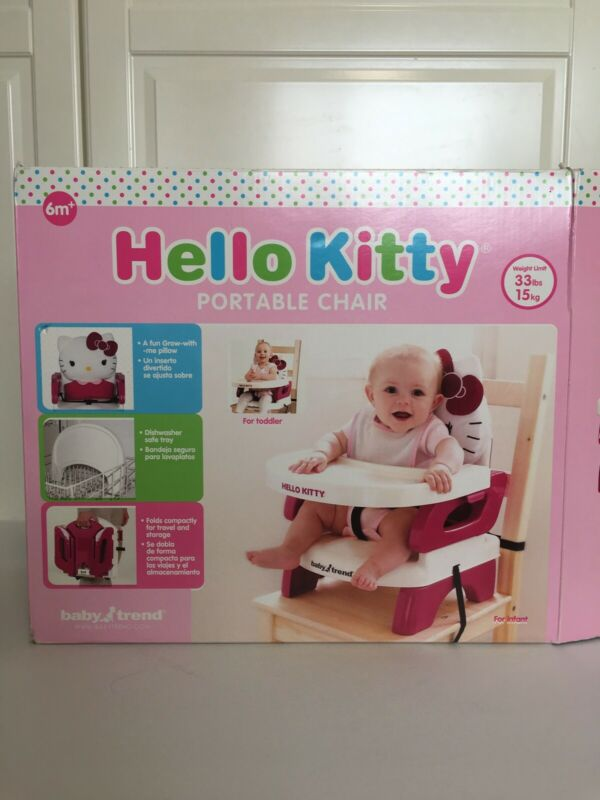 Baby Trend Hello Kitty Portable High Chair Infant Toddler Booster Seat Travel