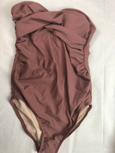 Ingrid & Isabel - One Piece Maternity Swimsuit - Brown - M - C345