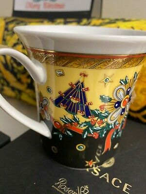 $200 VERSACE MUG CUP CHRISTMAS Rosenthal NEW in BOX RARE SALE