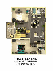 The Cascade -  One bedroom plus den two bathrooms