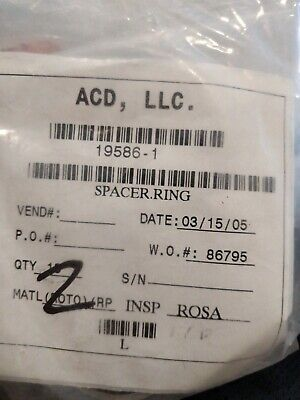 Acd Spacer Ring 19586-1. Lot Of 3. Box 2