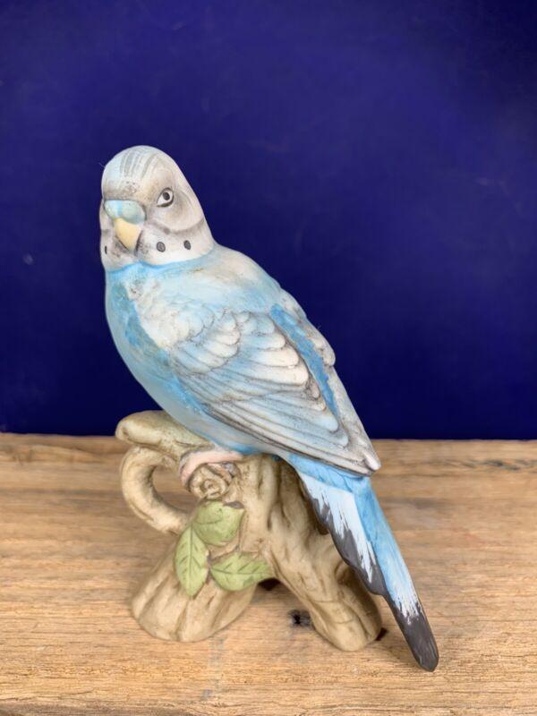 Vintage Lefton Porcelain Parakeet Hand Painted Figurine KW1251