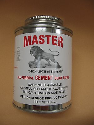 Contact Cement - Master All Purpose Cement 8 oz Brush in Can - Contact Cement- Shoe Repair Glue