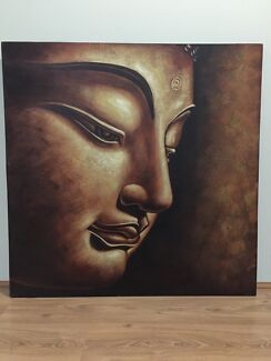 Painting - budda face down  Byford Serpentine Area Preview