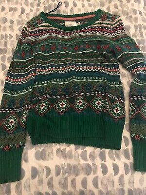 H&M LOGG Womens Medium Sweater Multicolor Christmas Fair Isle Nordic Crew Neck ()