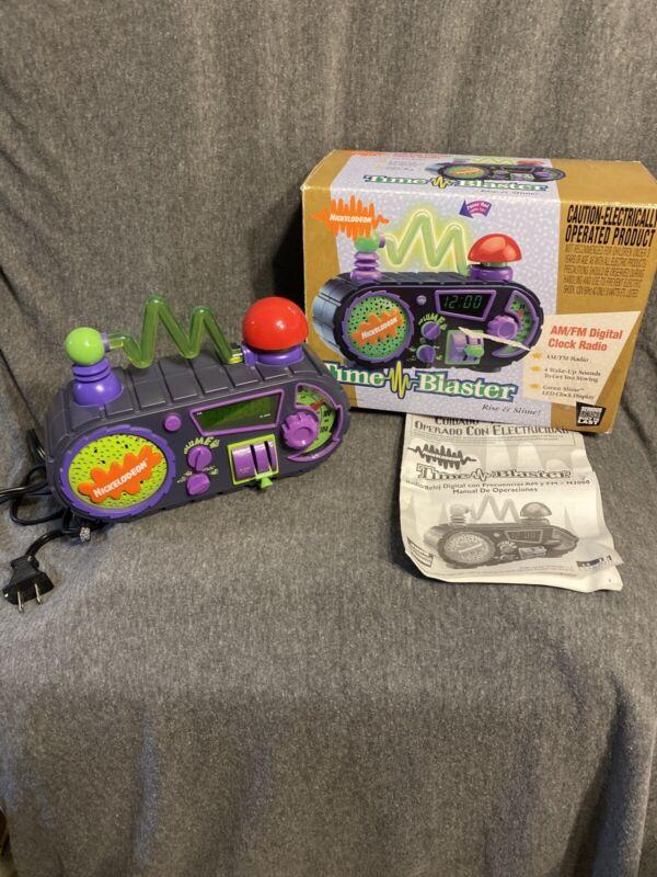 "Vintage 90s NICKELODEON ""Time Blaster"" AM/FM Radio/Alarm Clock Box Manual"