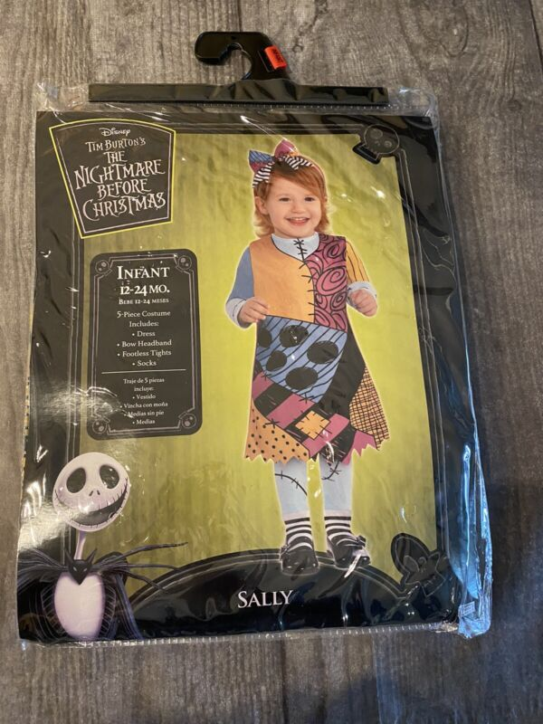 Disney nightmare Before Christmas Sally Costume Infant 12-24 MO.