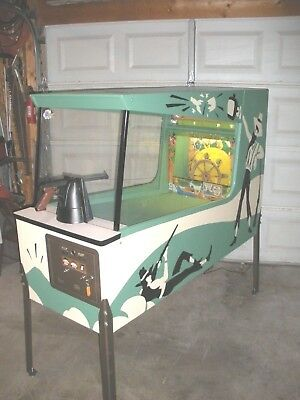 """1970 Midway's """" White Lightning """" Shooting Gallery Arcade Game. Restored"""