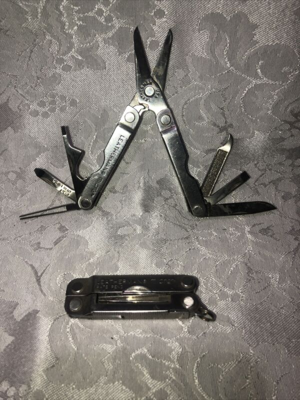 Qty. 2 Leatherman Micra Multi Tool, Key Chain Stainless Steel