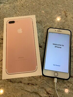 Apple iPhone 7+ Plus 128GB Rose Gold AT&T  No Contract A1784