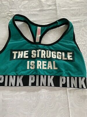 Women's Large PINK Victoria Secret Sports Bra