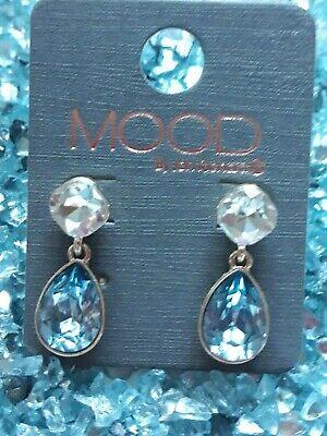 Mood by Jon Richard Small Blue Teardrop Earrings