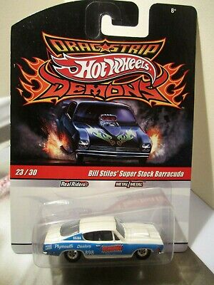 Hot Wheels Drag Strip Demons Bill Stiles' Super Stock Barracuda real riders