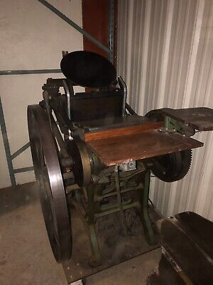 Antique Letterpress Printing Press Paper Cutter - 1885 -chandler And Price.