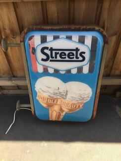 Streets Ice Cream Light Up Sign 1960s