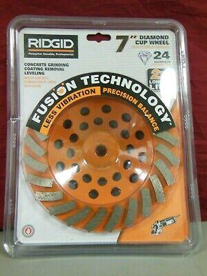 Ridgid 7 In. 24-segment Turbo Cup Grinding Wheel Taw7024p1